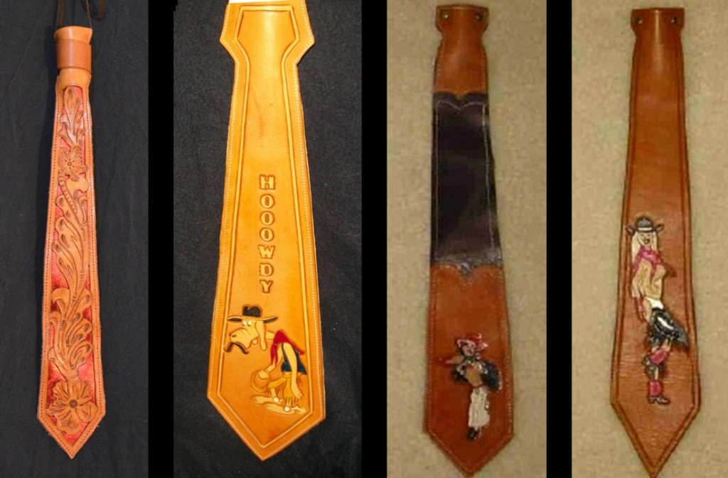 Custom Leather Ties